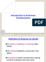 Introduction to Antennas - Familiarization