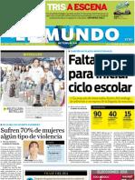 Portada El Mundo de Tehuacán Lunes 4 de julio de 2011