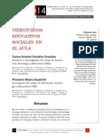 Icono14. A9/V2. Videojuegos educativos sociales en el aula