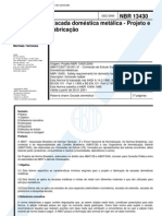NBR 13430 - Escada Domestica Metalica - Projeto e Fabricacao