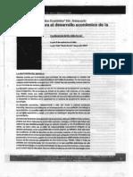 Un modelo para el desarrollo economico de la argentina