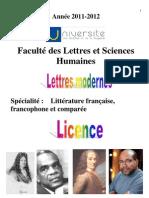 Livret étudiant 2011-2012 Lettres Modernes