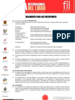 Reglamento para los participantes y expositores de la  FIL Arequipa 2011