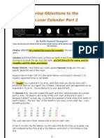 Answering Objections to the Solar Lunar Calander 2