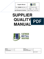 Supplier Quality Manual Sample