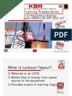 Lockout-tagout-safety Presentation-control of Hazardous Energy