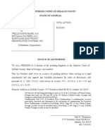 PT - Notice Lis Pendens