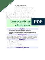 CONSTRUCCIÓN DE UN ELECTROIMÁN