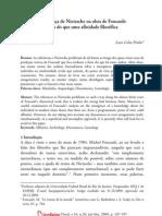 Pinho, L. C. A presença de Nietzsche na obra de Foucault - mais do que uma afinidade filosófica (Princípios, Natal, 2009)