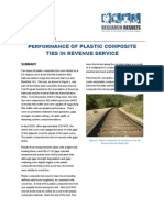 Performance of plastic composite ties in revenue service