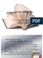 Metode de Evaluare- Didactica 2003