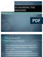 Five Forces Shapeing the Banking Industry