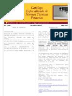 Catalogo Normas Tecnicas Peruanas