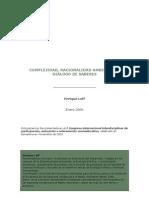 2. Complejidad, racionalidad ambiental y diálogo de saberes