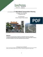 Multi Modal Planning