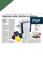 Impresoras verdes