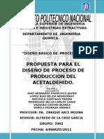 Proyecto Del Acetaldehido