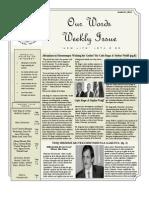 Newsletter Volume 3 Issue 27
