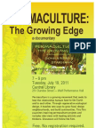 Permaculture--the Growing Edge