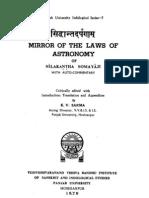 Siddhānta-Darpaṇa of Nīlakaṇṭha