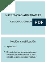 INJERENCIAS ARBITRARIAS