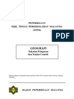 s942-Stpm Geografi Syllabus