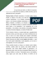 Orientaciones del Comandante Chávez en la celebración por la recuperación del Presidente Chávez, desde el Balcón del Pueblo, Palacio de Miraflores.