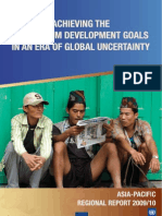 Achieving the Millennium Development Goals in an Era of Global Uncertainty