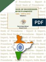 Hand Book Of Procedures Export & Import - Volume 1, India 2009 - 2014