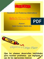 Resolución de Problemas Matemáticos(PLAN)