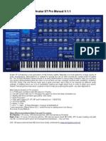 Avatar ST Pro Manual