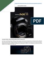 Samsung NX11 Preview