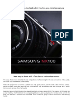 [Samsung NX100] New way to shoot with i-Function as a mirrorless camera
