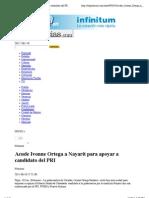 18-06-2011 Acude Ivonne Ortega a Nayarit Para Apoyar a Candidato Del PRI | SDP Noticias