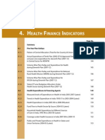Health Finance Indicators