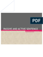 Passive and Active Sentence
