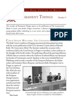 «Permanent Things» [A Russell Kirk Center for Cultural Renewal publication] n. 9, Mecosta, Michigan
