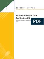 Wizard Genomic DNA Purification Kit Protocol