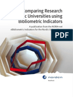 Comparing Research at Nordic Universitites Using Bibliometric Indicators