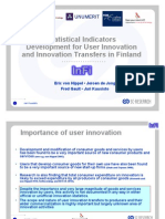 User innovation indicator development by Hippel - de Jong - Gault and Kuusisto