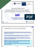 User innovation indicator development by Hippel - de Jong - Gault and Kuusisto