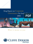 King Report Corporate Governance