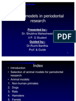 Animal Models in Periodontal Research