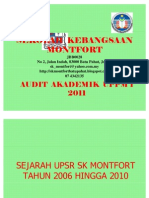 Audit Akademik Sk Montfort Uppm 1 2011 Presentation