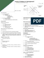 Economics - Macroeconomic Problems & Management 1