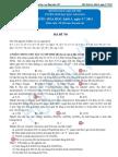 Đáp án đề thi đại học môn Hóa khối A năm 2011 - Mã đề