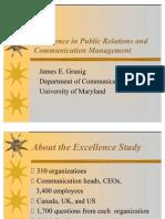 Excellence in Public Relations and Communication Management, James E. Grunig, Sveuciliste Maryland, SAD
