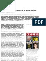 L'Express Tristane Banon Pourquoi Je Porte Plainte Contre DSK