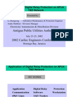 Application of Digital Relay Protection on APUA.....