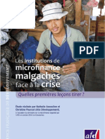 Les institutions de microfinance malgaches face à la crise